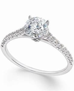 macy39s diamond engagement ring 1 ct tw in 14k white With macy s jewelry wedding rings