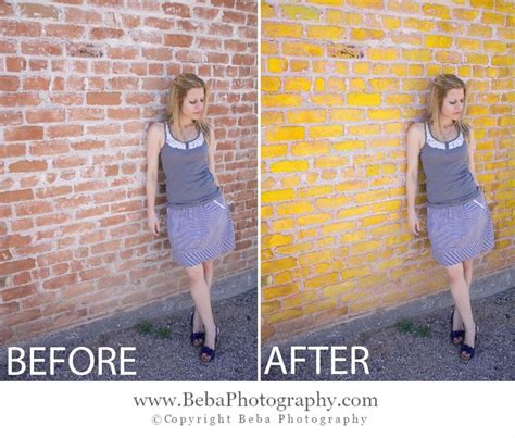 photoshop post production how to change wall color
