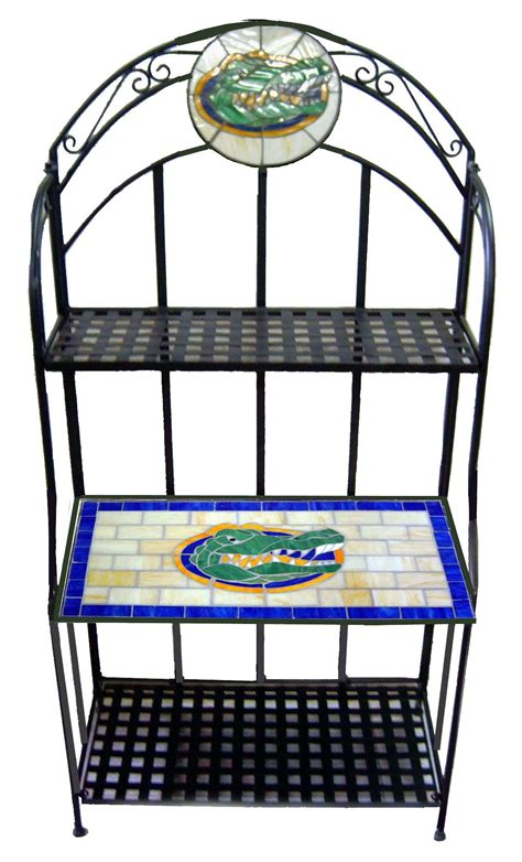 florida gators desk accessories ncaa florida gators stained glass bakers rack