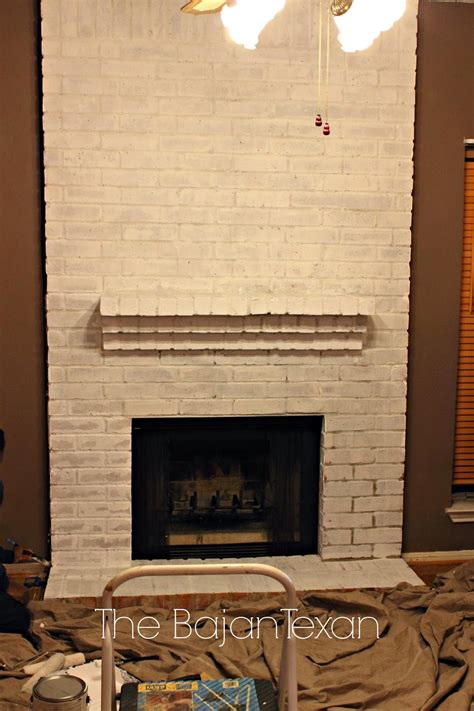 How To Paint A Brick Fireplace The Bajan Texan
