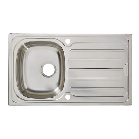 cooke and lewis kitchen sinks cooke lewis nakaya 1 bowl polished stainless steel sink 8328