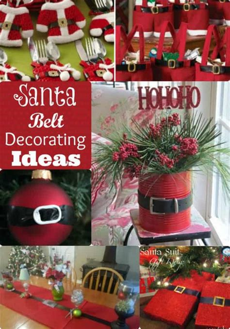 santa belt decorating ideas decorate