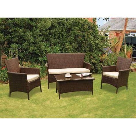 kendal rattan 4 conservatory set garden furniture