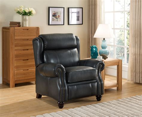 Discontinued Uttermost Ls by Ashton Traditional Genuine Grey Leather Pushback Reclining