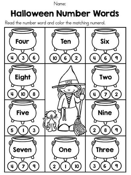 halloween kindergarten math worksheets word work kindergarten math kindergarten math