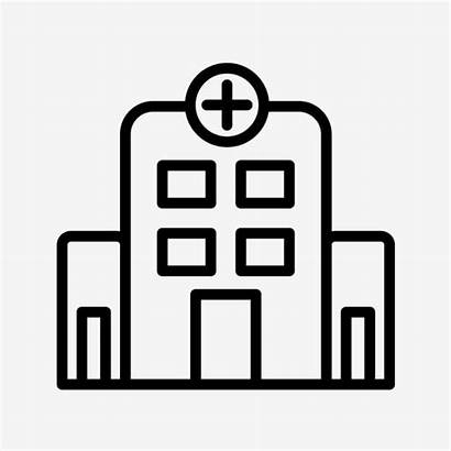 Hospital Icon Vector Medical Clipart Healthcare Background
