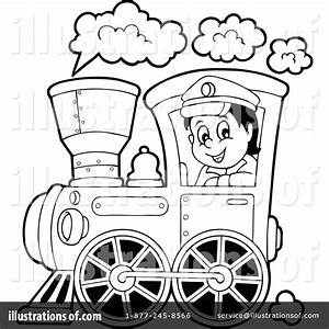 Train Clipart #1287908 - Illustration by visekart