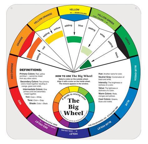 acrylic paint color mixing wheel classroom color wheel school specialty marketplace