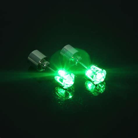 s s light up led bling ear studs earrings