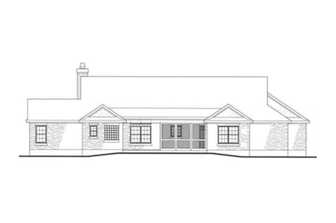 house plan   texas inspired country traditional ranch home design