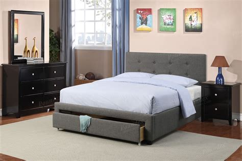 Nevis Full-size Platform Bed With Headboard Footboard And