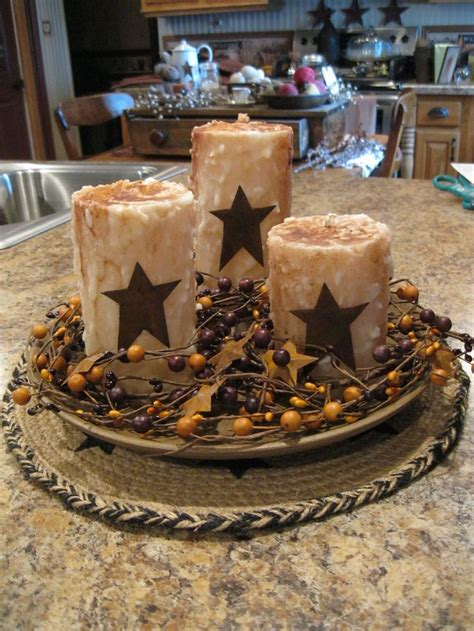 kitchen island centerpieces primitive candles and centerpiece ideas for the
