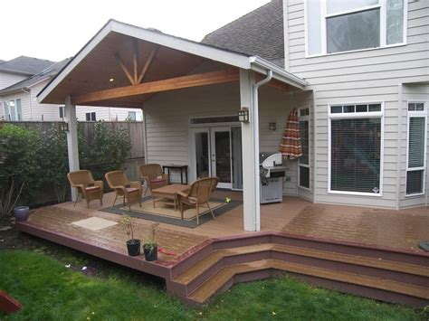 open gable patio cover a trex brasilia deck in nw