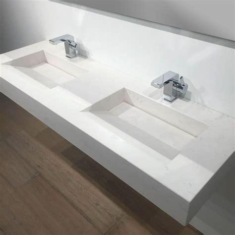 plan vasque salle de bain suspendu 141x46 cm calacatta