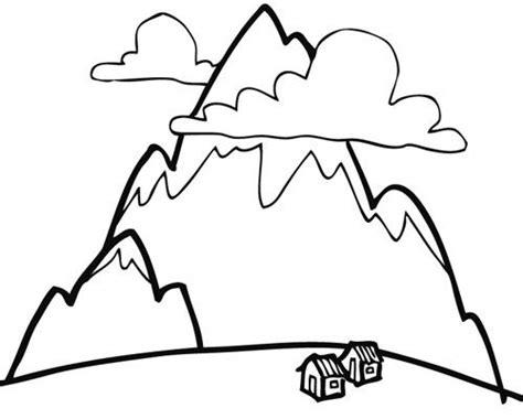 Dibujos de montañas para imprimir y pintar Montañas