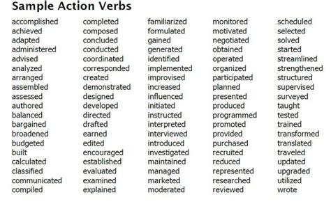 list of verbs for resume resume badak