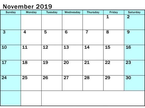 editable calendar  november  calendar word