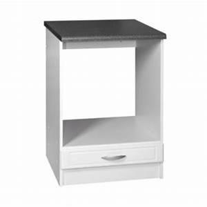 meublesline meuble bas four encastrable 60 cm dina blanc With meuble bas four encastrable