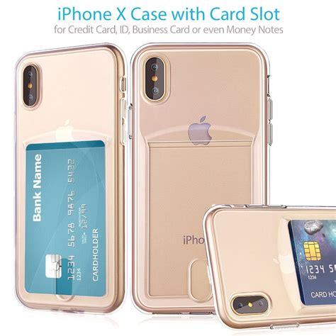 Iphone 6 plus case, iphone 6s plus case, kazineer premium leather flip wallet cover with card slots phone case for apple iphone 6 plus/6s plus (rose gold). Credit Card Slot Transparent TPU Phone Case For iPhone X 7 8 6S 6 Plus 7Plus Cases Ultra Slim ...