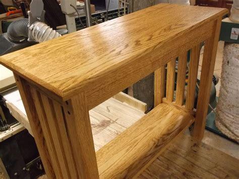 custom mission style oak sofa table  db custom wood shop