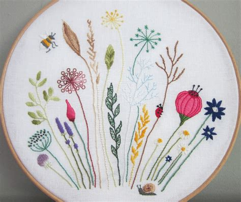 embroidery designs free free floral meadow embroidery pattern