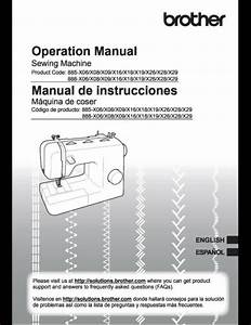 Brother Xm2701 Sewing Machine Manual User Guide