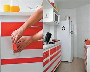 Klebefolie fur kuche verwenden und die kuchenmobel neu for Klebefolie für küchenschr nke