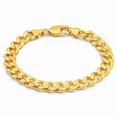 Bracelet Gold Mens Grams Solid 9ct Curb