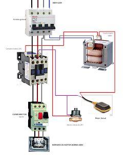 motor bomba trifasico contactor guardamotor trafo 24v y boya nivel con electrovalvula esquemas
