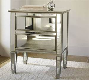 Park Mirrored Bedside Table - Contemporary - Nightstands