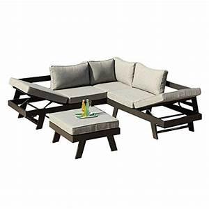 Alu Lounge Möbel : greemotion 128510 lounge set aluminium panama alu loungeset 3 teilig f r garten terrasse ~ Indierocktalk.com Haus und Dekorationen