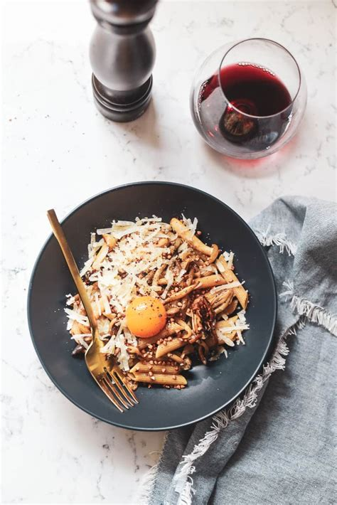 wheat penne  brown buttered mushrooms