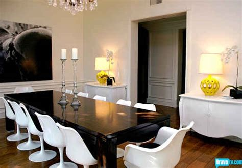 zoe home interior rachel zoe s new dining room with yellow ls hooked on houses