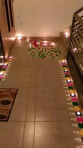 Diwali pooja room ideas pinterest diwali rangoli for Interior decoration ideas for diwali