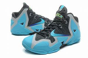 Real Lebron James 11 Black Blue Silver For Cheap