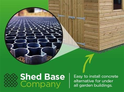 How To Lay Base For Shed by Interlocking Plastic Shed Base System For Garden