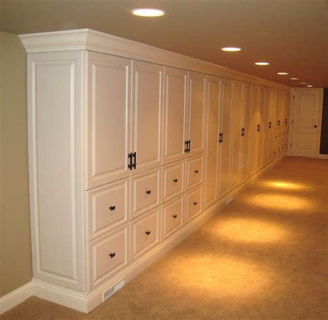 Storage Cabinets For Basement by Formal Storage Cabinets In Basement Family Room Built In