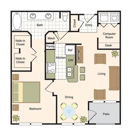 Luxury Apartment Plans by Floor Plans Renaissance At Hollow Luxury