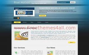 blue css motion website templatejpg free website With motion 4 templates free download