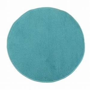 petit tapis rond pas cher bleu diametre 70cm With tapis rond bleu