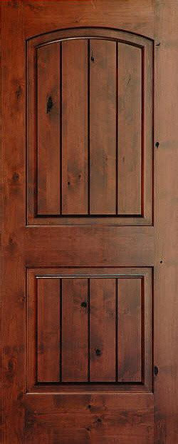 alder wood doors rustic arch 2 panel v grooved knotty alder wood door