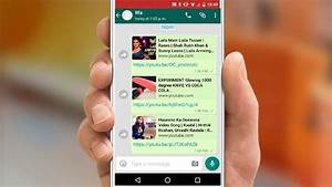 How To Share Youtube Video On Whatsapp Contacts  U0026 Groups