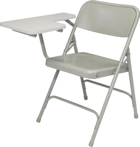 steel chair with folding tablet arm in desks