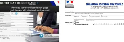 telecharger certificat de non gage formalites