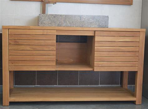 mercier carrelages meuble 02 salle de bain simple vasque en teck 120 ou 140 cm