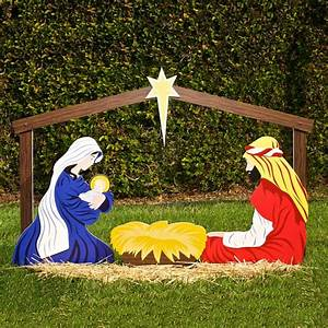 Large Outdoor Christmas Ornaments: Nativity Yard Decorations