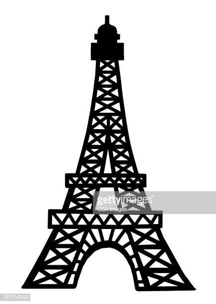eiffel tower stock illustrations  cartoons getty images