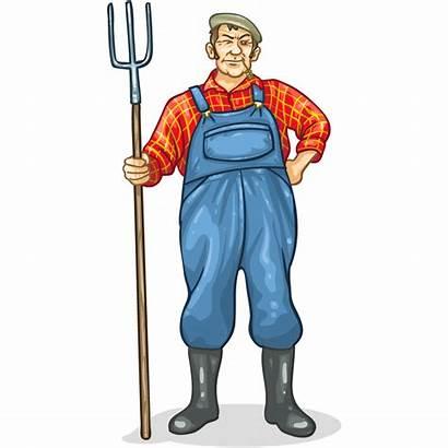 Farmer Cartoon Transparent Farm Agrarian Resolution Near