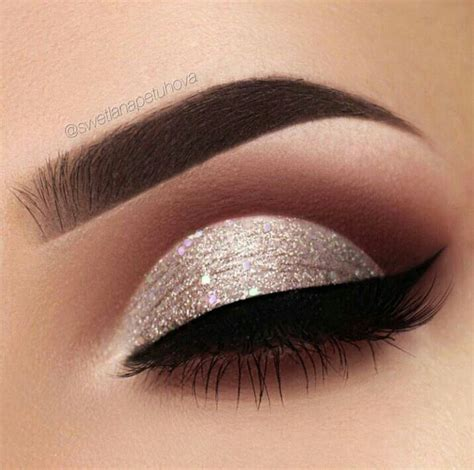 silver eye makeup ideas  pinterest silver