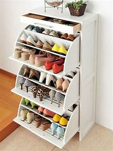 keep your footwear collection organized with this shoe With stay organized with these shoe storage ideas